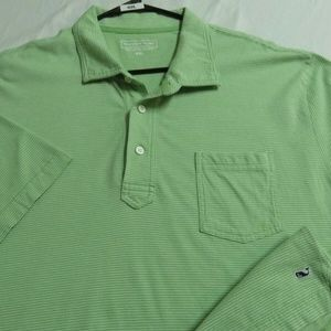 2XL Green Vineyard Vines Cotton #99L Polo *spot